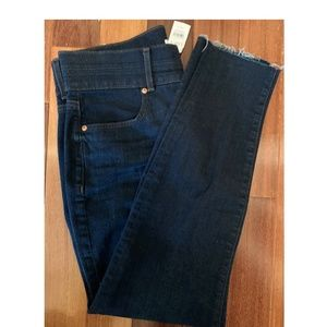 NEW Double waistband skinny jeans with Raw hen